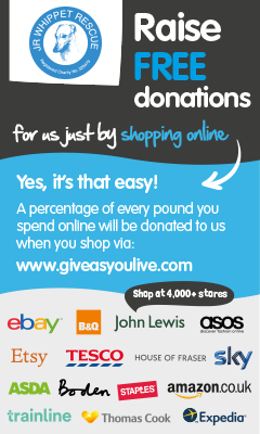 Support JR Whippet Rescue with Give As You Live Banner
