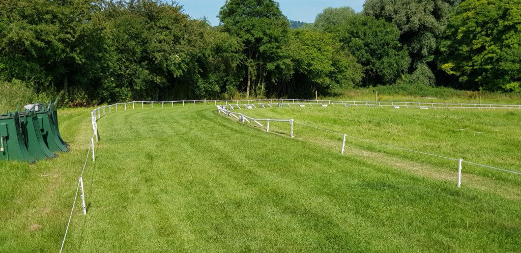 Whippet track finishing straight